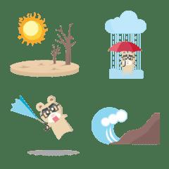 天気、自然災害、防災の絵文字