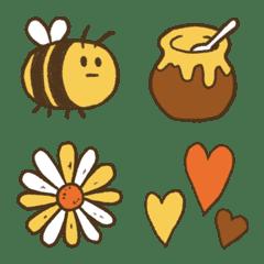 ミツバチ*フォーカラー絵文字
