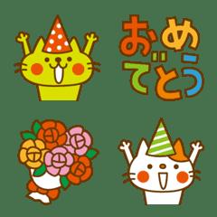 CATS & PEACE 絵文字 4(お祝い)