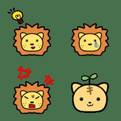★ライオンの絵文字…ちょっと子ネコ★