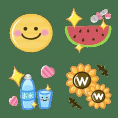 夏のスマイル絵文字セット