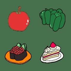 シンプルな食べもの絵文字-ちょいリアル風
