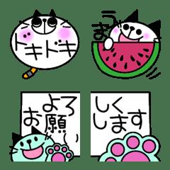 カラフルなネコちゃんの絵文字2