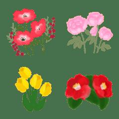 水彩のお花