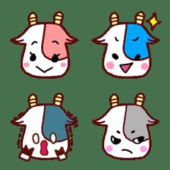 カラフル牛の絵文字