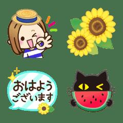 大人女子の日常♡夏のさわやか絵文字