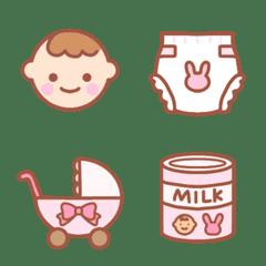 ピンク好きのための絵文字(ベビー・グッズ)