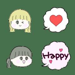 日常♡女の子の絵文字