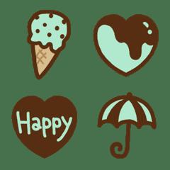 チョコミント好きに捧ぐ、ガーリー絵文字