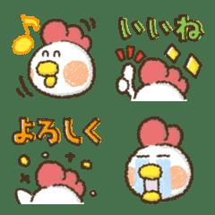 ニワトリ★基本カラフル文字