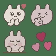 ベージュとピンクのうさぎ♡
