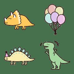 ゆるかわな恐竜さんの絵文字