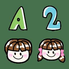Cutie emoji : abc minimal cute