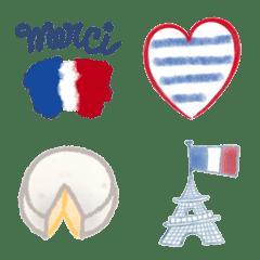 フランスカラーのトリコロール絵文字