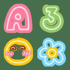 Cutie emoji : abc neon funny