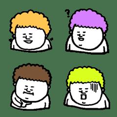 ぽっちゃりアフロ君 mini -カラフル-