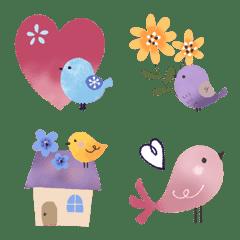 小鳥の毎日絵文字