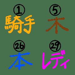 ルノルマン文字と数字