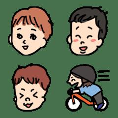 キックバイカーズ(いろんな男の子の絵文字)