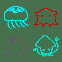 海の生き物 使える絵文字