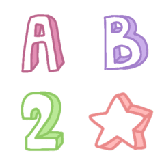 Cutie emoji : abc box minimal funny