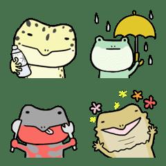 爬虫類の絵文字[夏]