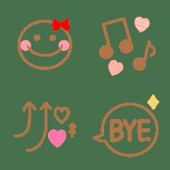 沢山使える☆シンプル絵文字11
