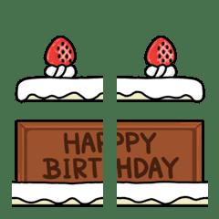 ケーキ*誕生日*繋げる+並べる絵文字