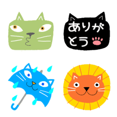 Junsのカラフル猫絵文字