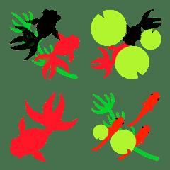 ◆金魚だらけ☘◆夏絵文字‼️