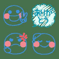 爽やか♥️元気スマイルクレヨン絵文字