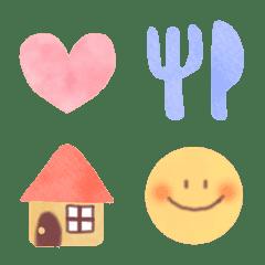 水彩◆パステル◆シンプル絵文字