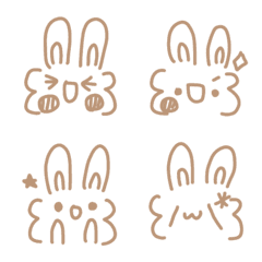 シンプル可愛い顔文字ーゆるふわうさぎ6