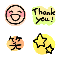 カラフル☆毎日のシンプル絵文字