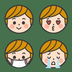 男の子の表情絵文字