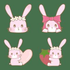 ウサギ Ariは イチゴが好きだよ。