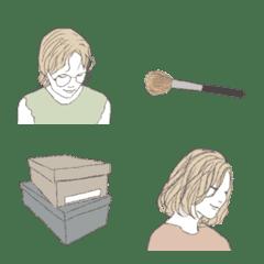 シンプル・ナチュラル大人女子 絵文字版#2