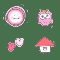 pink color シンプル絵文字(日常使い)