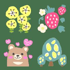 北欧風でかわいいお花と動物たち