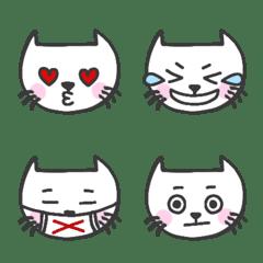 白ネコの表情絵文字