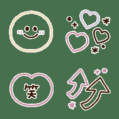 シンプル線画★くすみカラー