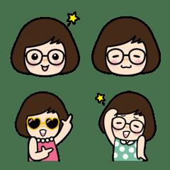 メガネ女子の日常絵文字
