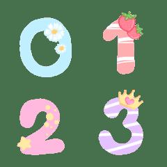 Cutie emoji : number pastel 2