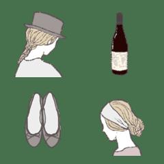 シンプル・ナチュラル大人女子 絵文字版#4