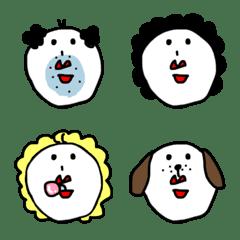 白いヒトの家族と友達♡絵文字