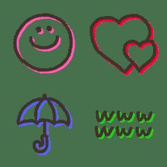 使いやすいシンプル&カラフル絵文字
