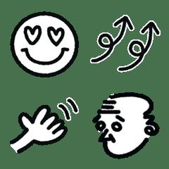 【モノクロ】毎日使えるシンプル絵文字