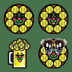 ドーナツ埋設型テニスボールの妖精絵文字