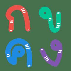 Cutie emoji : Alphabet thai cute funny