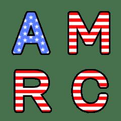 アメリカ 星条旗 アルファベット 絵文字